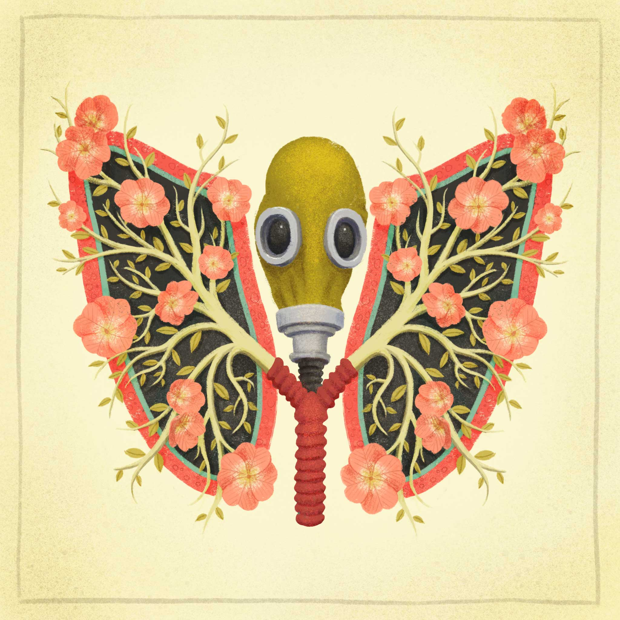 Blooming Breath - Anatomical Art by Dunaway Smith