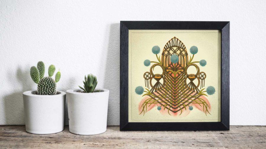 Nerve Macrame Art Print- by Dunaway Smith