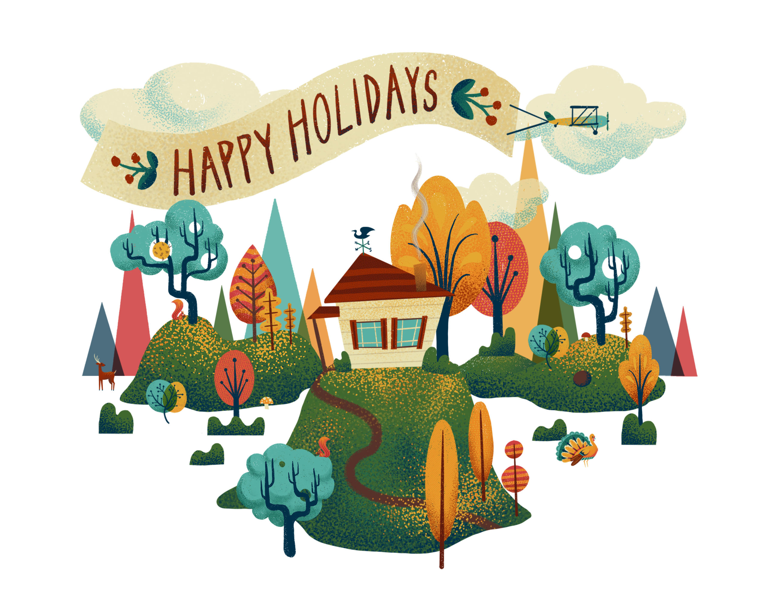 Adobe Aero AR Holiday Card by Dunaway Smith