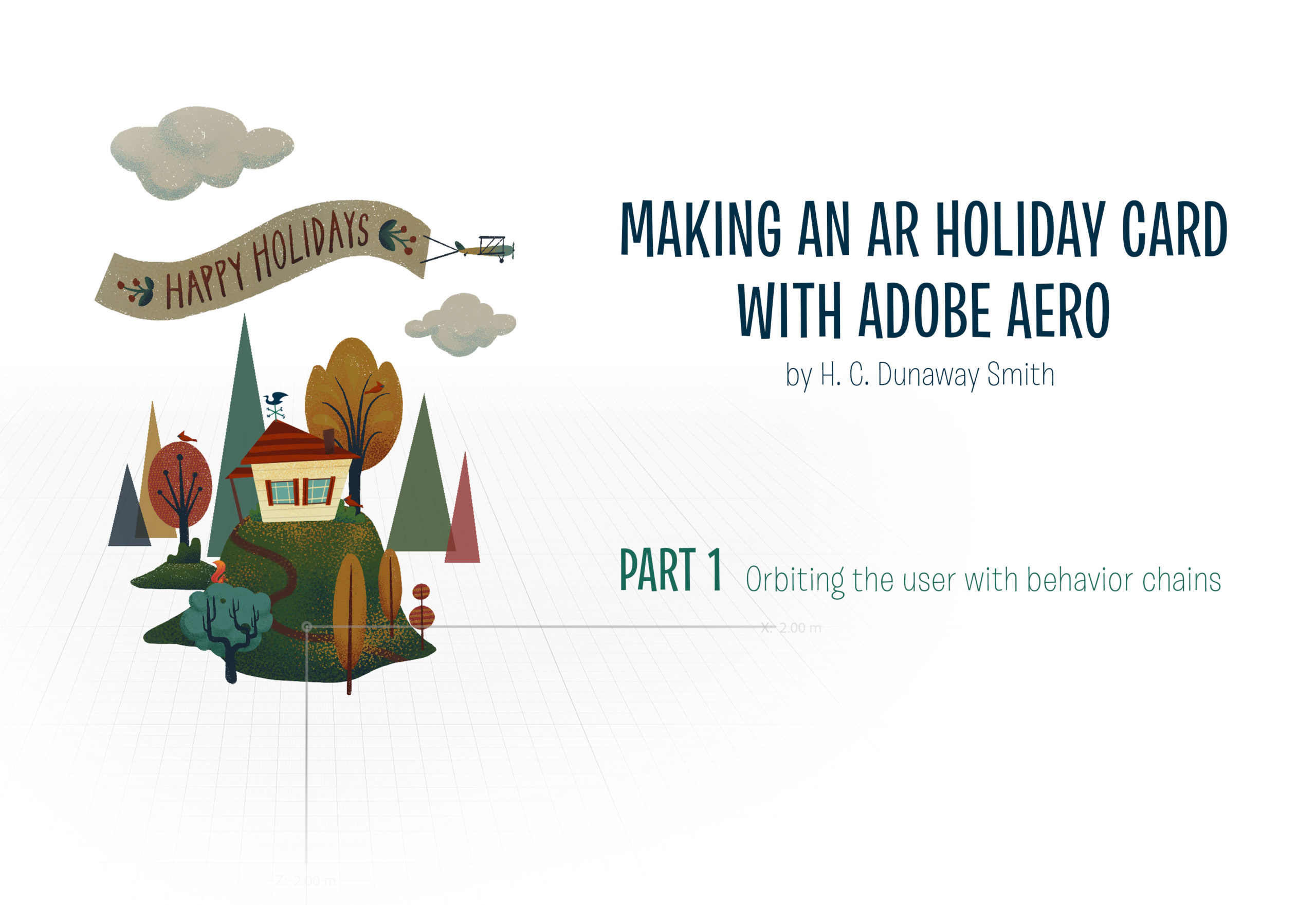 Adobe Aero Tutorial: Making a holiday card