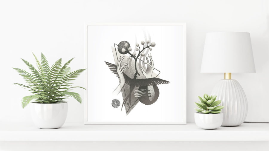 Summoner - AR Art Print by Dunaway Smith