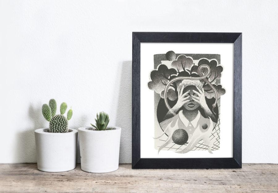 White Washing - AR Art Print by Dunaway Smith